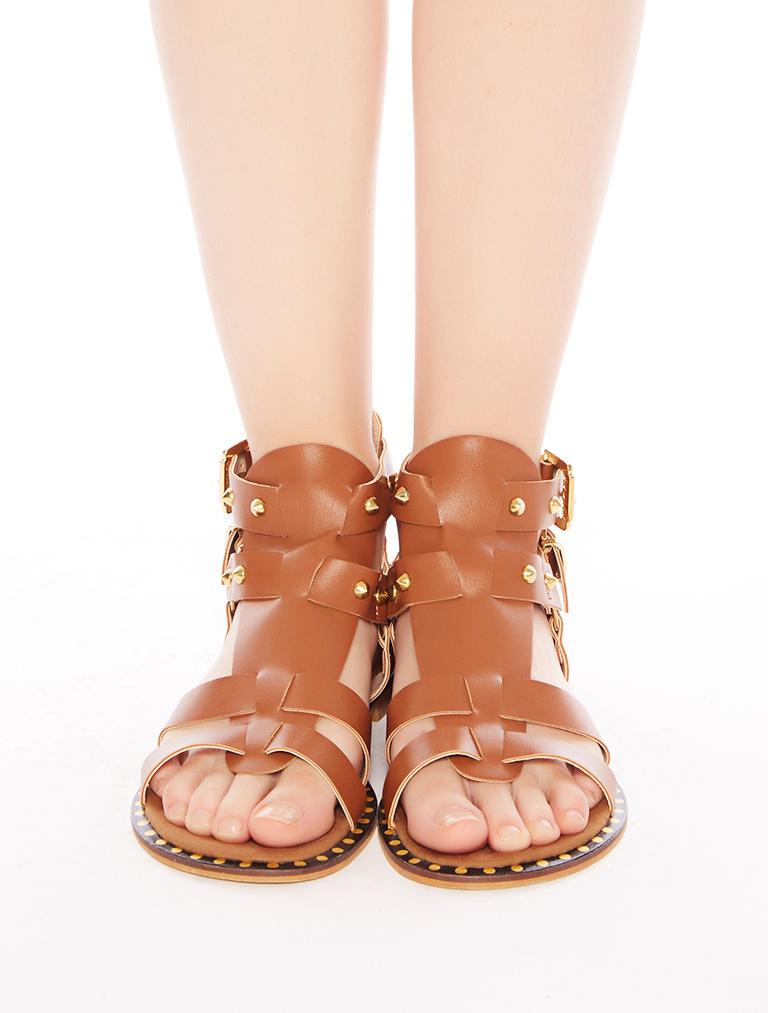 AYAKKABI Lima Taba Taşlı Parmak Arası Sandalet