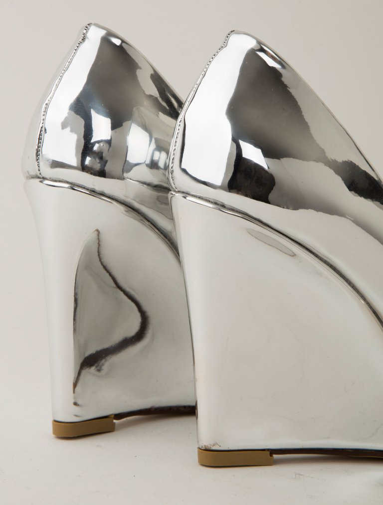 STİLETTO Magnolia Gümüş Ayna Dolgu Topuk Stiletto