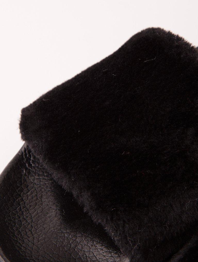 SANDALET / TERLİK Pedro Siyah Kürk Tüylü Terlik