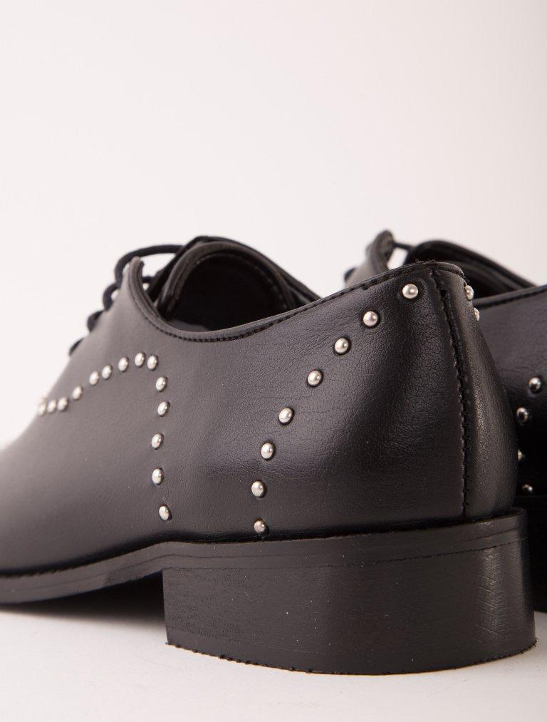 OXFORD - LOAFER Mafia Siyah Zımbalı Tasarım Loafer