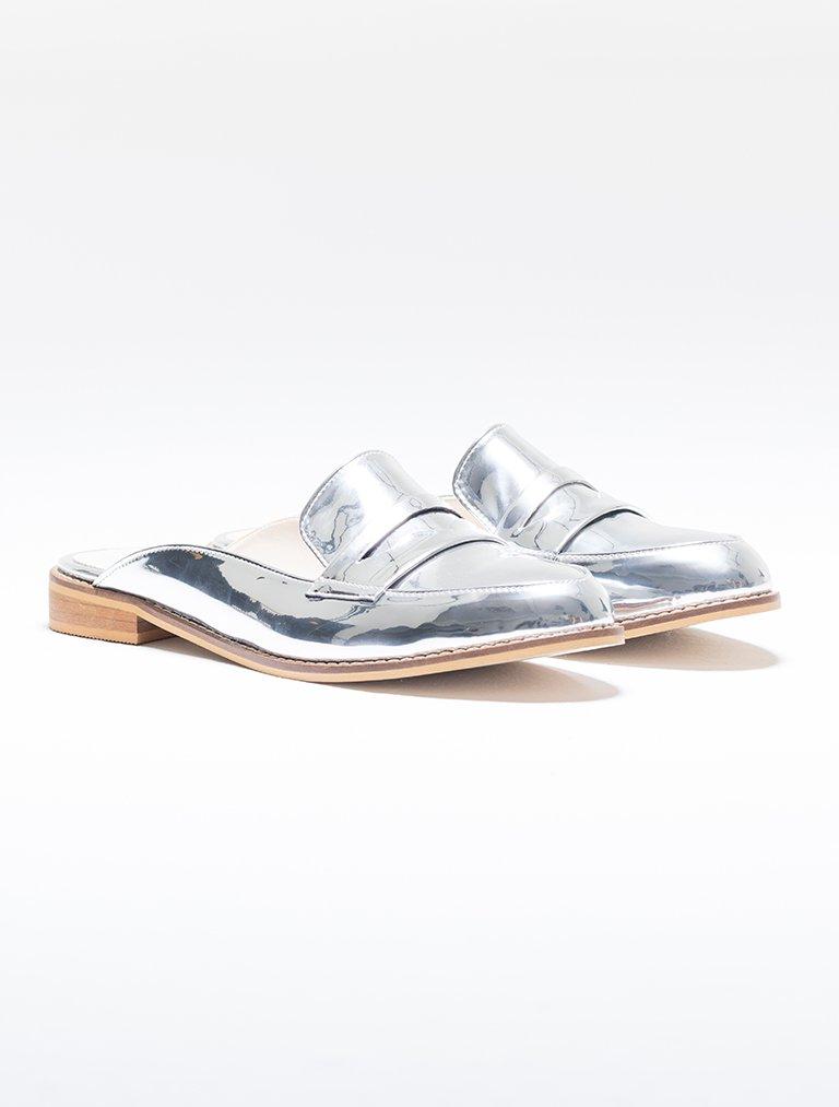 SANDALET / TERLİK Vera Gümüş Ayna Loafer Terlik