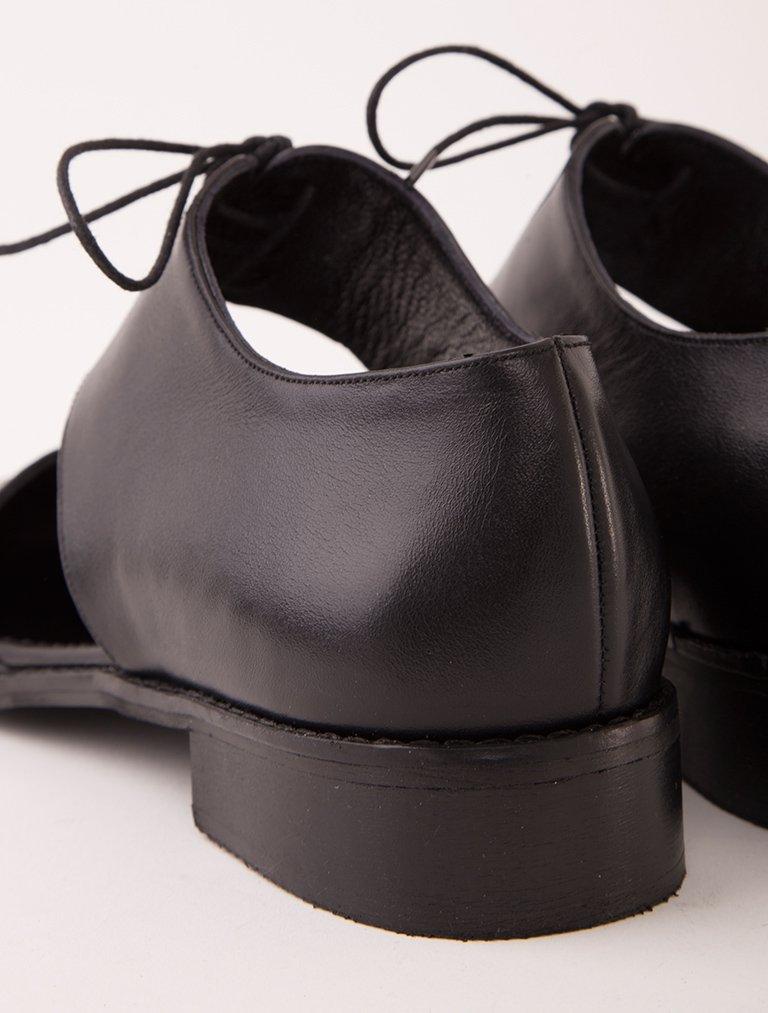OXFORD - LOAFER Hudson Siyah Hakiki Deri Dekolte Loafer