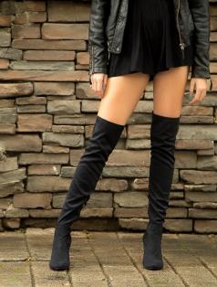 London Siyah Çorap Çizme