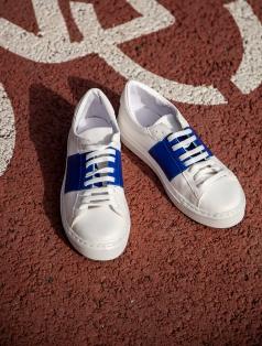 Popov Beyaz Mavi Kombin Spor Ayakkabı