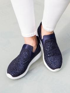 Campbell Lacivert Taşlı Spor Ayakkabı