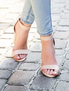 Roselyn Ten Kalın Topuklu Sandalet