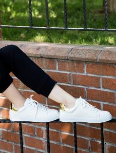 Gabby Beyaz Altın Kombin Spor Ayakkabı