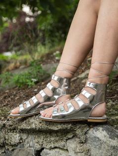Galea Gümüş Ayna Dekolte Sandalet