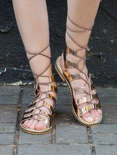 Galea Rose Gold Ayna Dekolte Sandalet