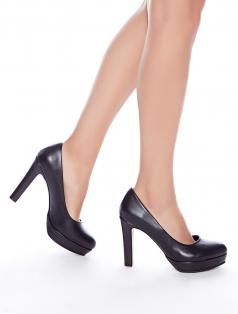 Lisa Siyah Platform Topuklu