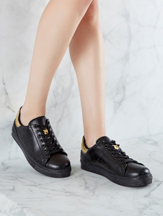 Gabby Siyah Altın Kombin Spor Ayakkabı