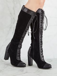 Desiret Siyah Kombin Topuklu Çizme