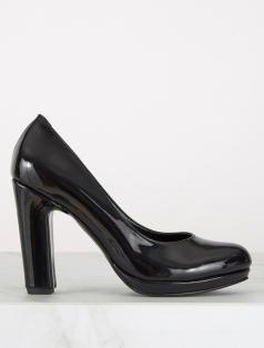 Alba Siyah Rugan Platform Topuklu