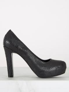Lisa Siyah Anakonda Platform Topuklu