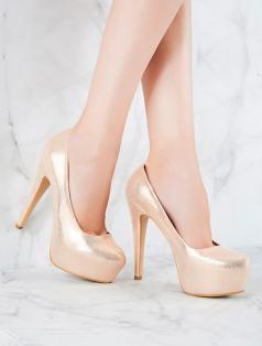 Monroe Rose Gold Simli Platform Topuklu