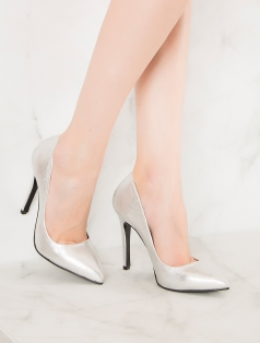 Liset Gümüş Stiletto Topuklu