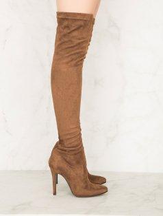 Britney Kahverengi Uzun Çorap Çizme