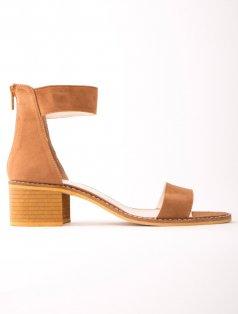 Moreno Taba Süet Bantlı Topuklu Sandalet