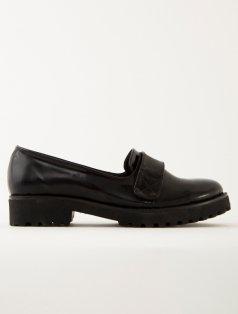 Owen Siyah Rugan Cırt-Cırt Loafer