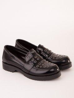 Rude Siyah Mat Rugan Kapsüllü Loafer