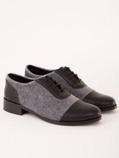 Mocca Siyah Gri Loafer Ayakkabı