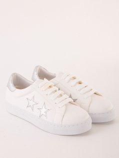 Jamia Beyaz Gümüş Yıldızlı Sneakers