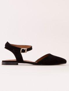Ciara Siyah Süet Sandalet