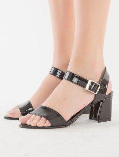 Dabney Siyah Rugan Topuklu Sandalet