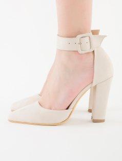 Zeli Bej Süet Bilekten Tokalı Topuklu Sandalet