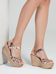 Estela Rose Gold Dolgu Topuklu Sandalet