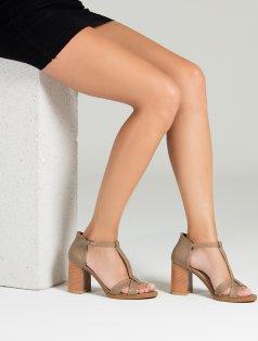 Morlin Vizon Dekolte Topuklu Sandalet