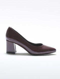 Luca Bordo Rugan Küt Topuklu Ayakkabı