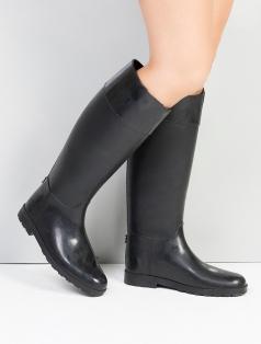 Delicia Siyah Rugan Kombin Yağmur Çizme