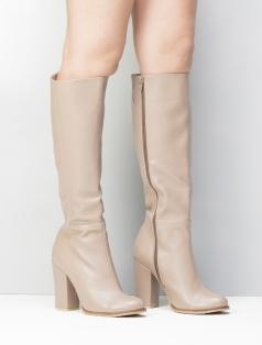 Cherina Vizon Deri Topuklu Çizme