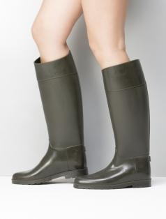 Delicia Haki Rugan Kombin Yağmur Çizme