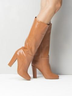 Cristina Taba Deri Topuklu Çizme